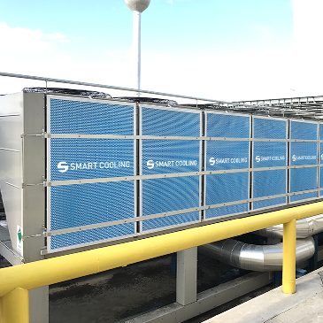 Mars factory in Hungary use Intelligent adiabatic evaporative pre-cooling system 'Smart Cooling™'.