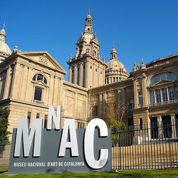 Completed project in MNAC (Museum Nacional d'Art de Catalunya) at Barcelona